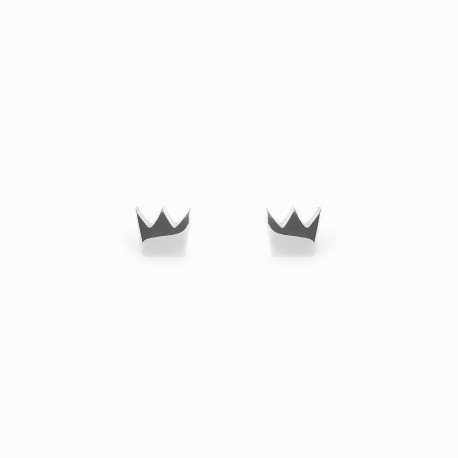 Full Crown Silver Earrings