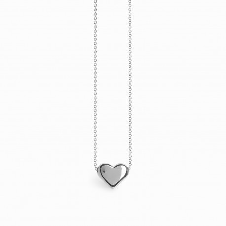 Full Heart Silver Necklace