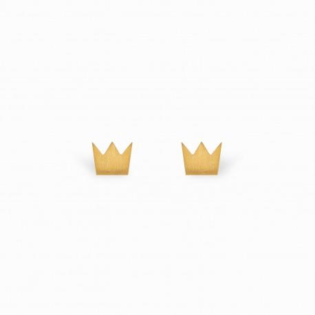 Full Crown Golden Earrings