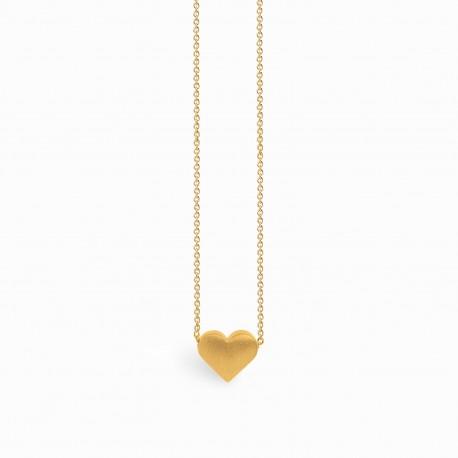 Full Heart Golden Necklace