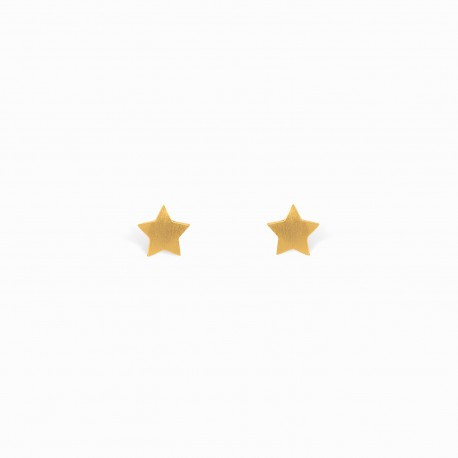 Full Star Golden Earrings