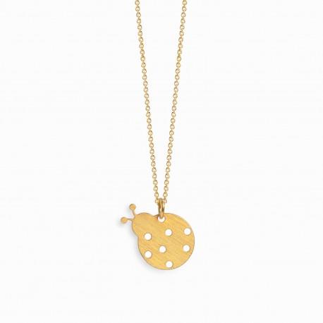 Nature Ladybug Golden Necklace