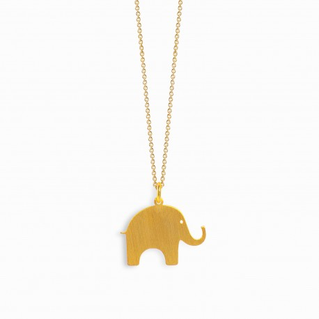 Nature Elephant Golden Necklace