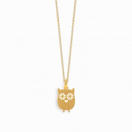 Nature Owl Golden Necklace