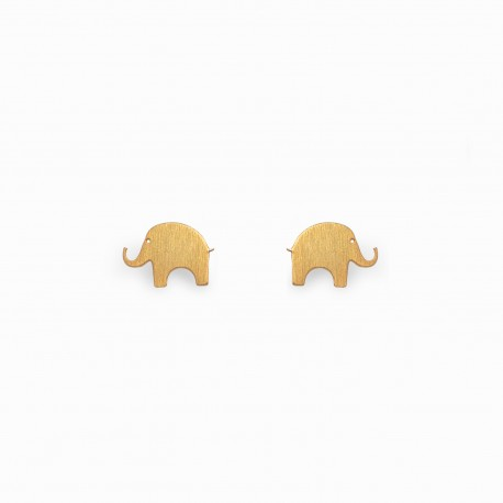Nature Elephant Golden Earrings