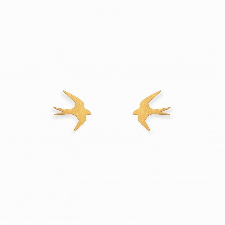 Nature Swallow Golden Earrings