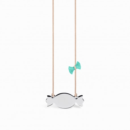 Mini Coquine Candy Silver Linen Necklace