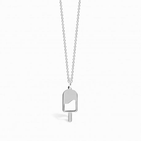 Mini Coquine Ice Cream Silver Necklace