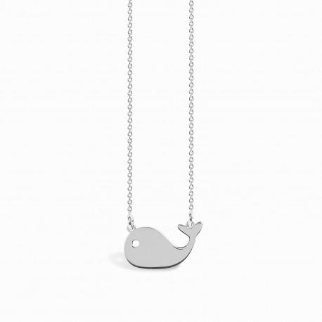 Mini Coquine Whale Silver Necklace