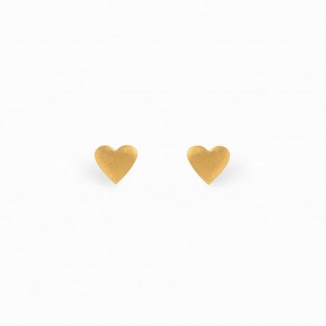 Full Heart Golden Earrings