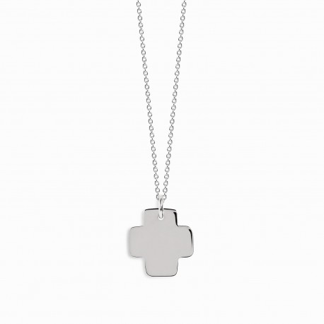Spirit Cross Silver Necklace