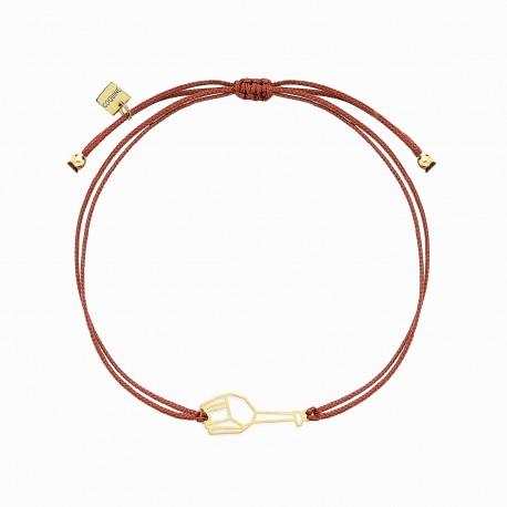 Origami Giraffe Golden Linen Bracelet