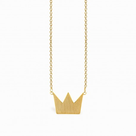 Life Crown Golden Necklace