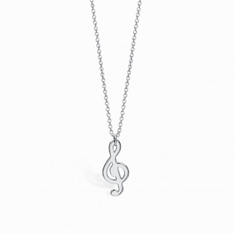 Life Treble Clef Silver Necklace