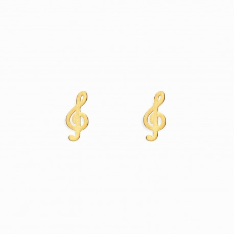 Life Treble Clef Golden Earrings