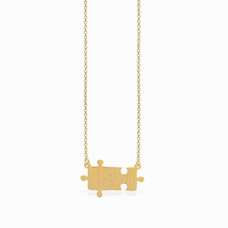 Life Puzzle Golden Necklace