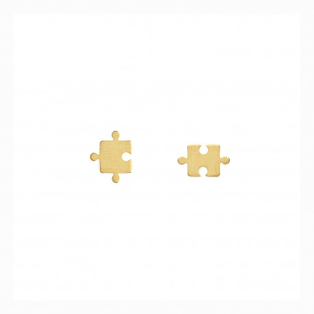 Life Puzzle Golden Earrings