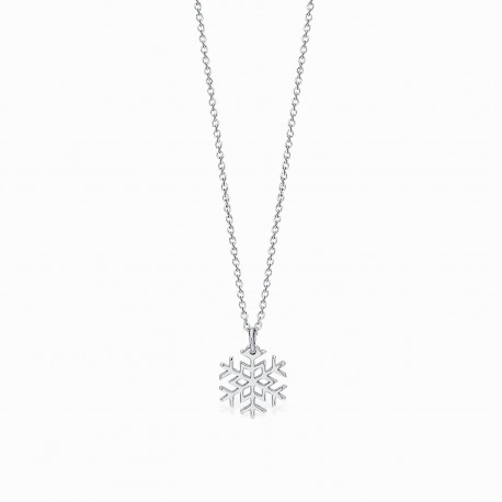 Life Snow Silver Necklace