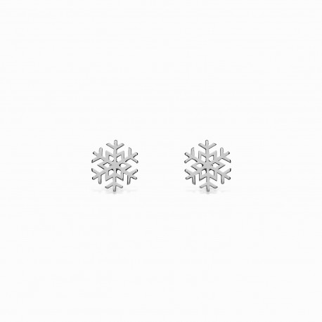 Life Snow Silver Earrings