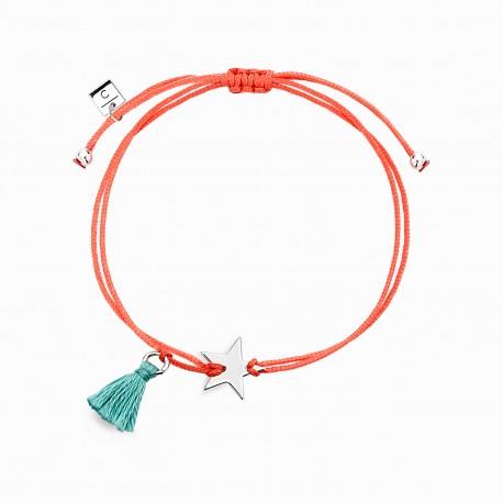 Mini Coquine Star Silver Linen Bracelet