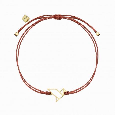 Origami Tsuru Golden Linen Bracelet
