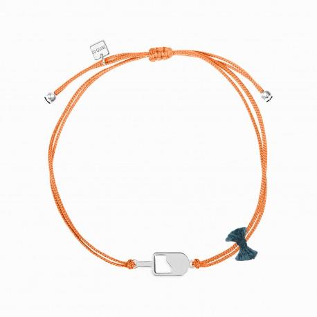 Mini Coquine Ice Cream Silver Linen Bracelet