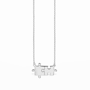 Life Puzzle Silver Necklace