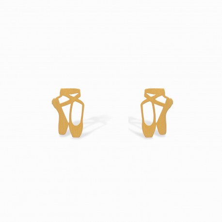 Mini Coquine Ballerina Golden Silver Earrings