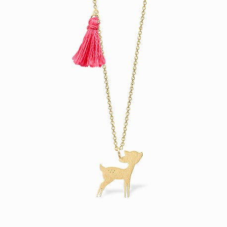 Nature Bambi Golden Necklace