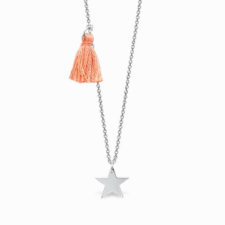Mini Coquine Star Silver Necklace