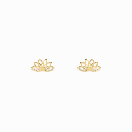 Boho Lotus Golden Earrings