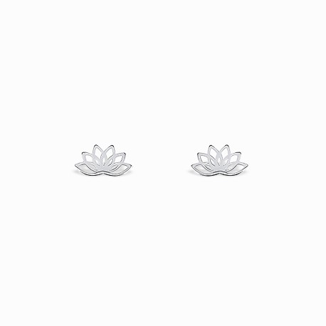Boho Lotus Silver Earrings