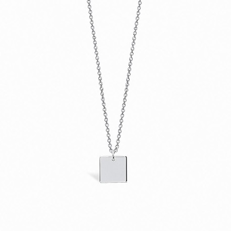 Basic Square Silver Necklace