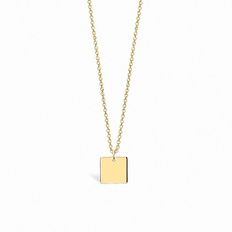 Basic Square Golden Silver Necklace