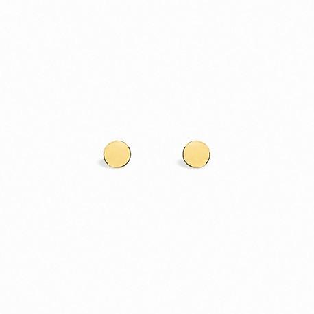 Back to Basics Circle Golden Silver Earrings