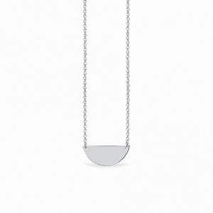 Basic Half Circle Silver Necklace