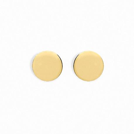 Back to Basics Big Circle Golden Silver Earrings