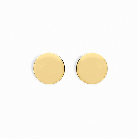 Basic Big Circle Golden Silver Earrings