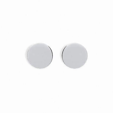Basic Big Circle Silver Earrings