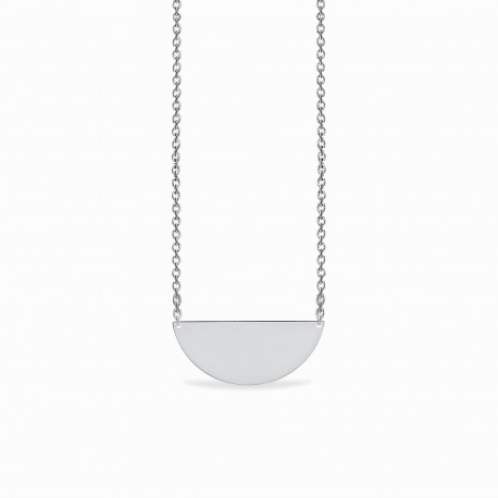 Basic Big Half Circle Silver Necklace