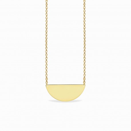 Basic Big Half Circle Golden Silver Necklace