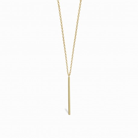 Geometric Pin Golden Silver Necklace