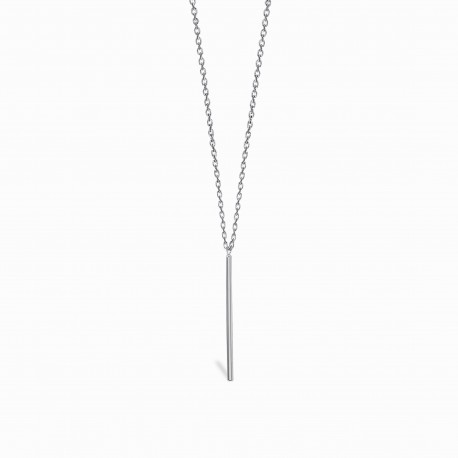 Geometric Pin Silver Necklace