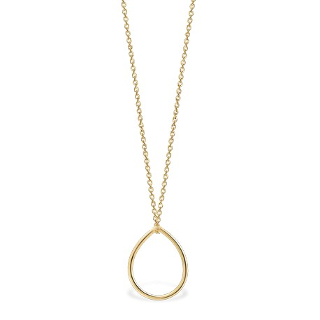 Back to Basics Drop Golden Silver Necklace