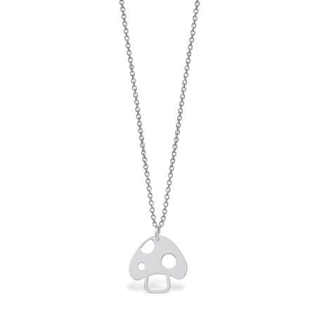 Mini Coquine Mushroom Silver Necklace