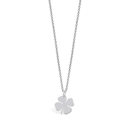 Life Trefoil Silver Necklace