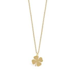 Life Trefoil Golden Silver Necklace