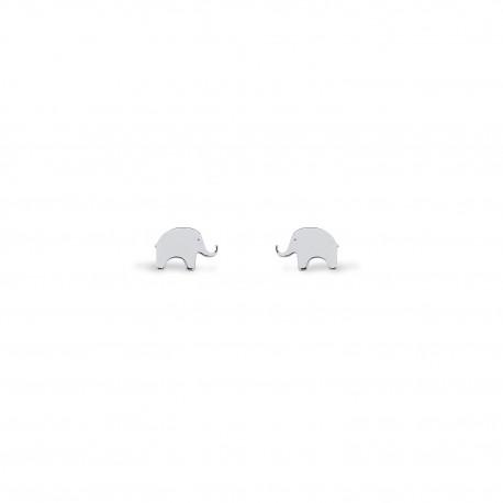 Brincos Nature Elefante Prata
