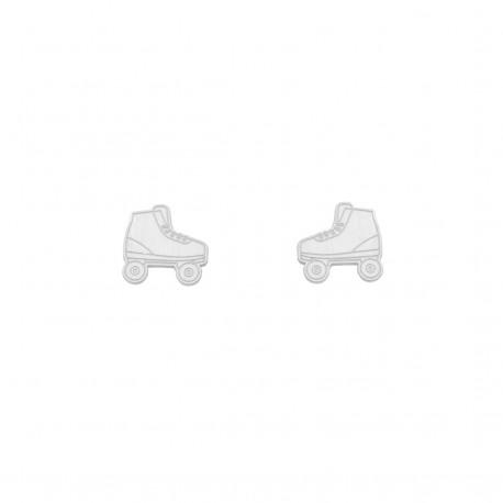Life Rollerblading Silver Earrings