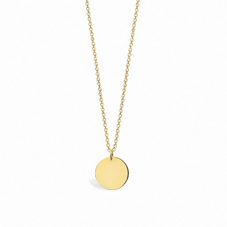 Basic Circle Golden Silver Necklace